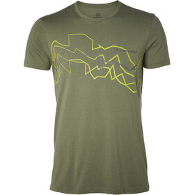 North Bend Vertical Tee Men green lichen